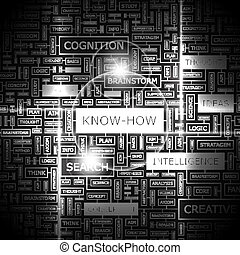 KNOW-HOW. Background concept wordcloud illustration. Print...