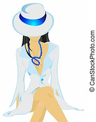 Girl in a hat,