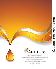 Sweet Honey Backgound - Vector illustration of an abstract...