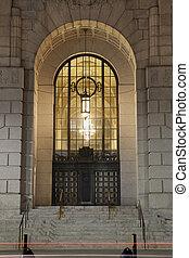 Entrance to Art Deco Building, Albany, NY