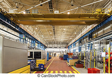 Modern automatic factory - Production Line, Gantry,...