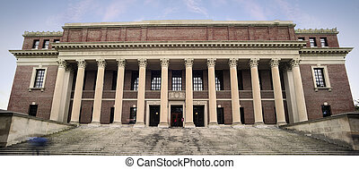 Harvard University - Entrance to Widener Library - Harvard...