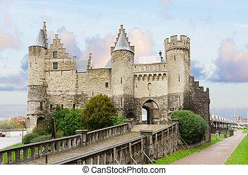 Het Steen castle, Antwerpen - medieval Het Steen castle of...