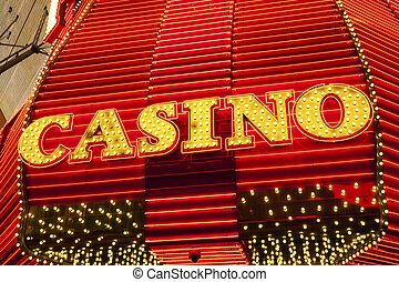 Casino Sign in Las Vegas, Nevada, USA