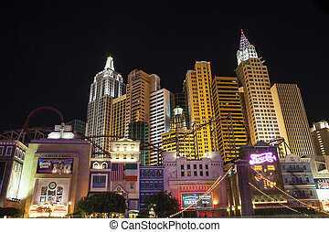 Famous Las Vegas, Nevada, USA - Las Vegas, USA - October 1,...