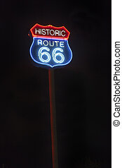 Route 66 sign - Illuminated route 66 sign