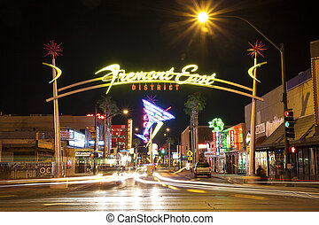 Fremont East District, Las Vegas, USA - Las Vegas, USA -...