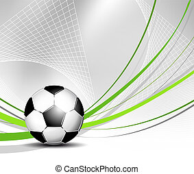 Soccer ball in net - Sports background with soccer ball