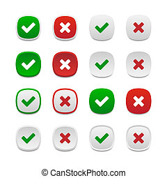 Rounded square validation buttons