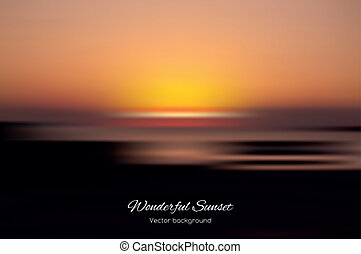 Wonderful sunset vector background - Wonderful sunset on the...