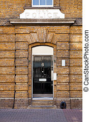 Police Station in London - Entrance Door to Police Station