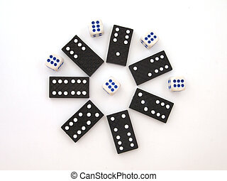 Dominos and dice. - Dominos and dice ,used to play with for...