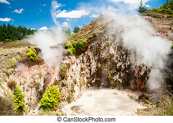 Craters of the Moon in New Zealand - Geothermal eruption...