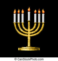 Hanukkah and all things related - Hanukkah candles all...