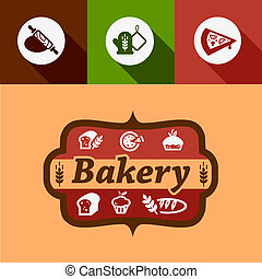 flat bakery design elements