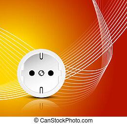 Energy power concept with outlet