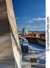 View from Garden of Paradise on spring Prague - HDR Photo -...