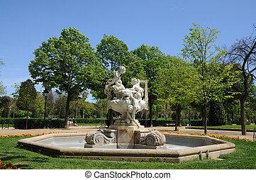 Statue in Parc de la Ciutadella, Barcelona Spain