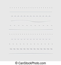 Vector Dividers Collection - Set of dividers, isolated on...