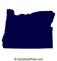 map of the US state of Oregon