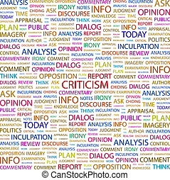 CRITICISM Concept illustration Graphic tag collection...