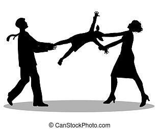custody  battle - symbolic illustration, custody  battle