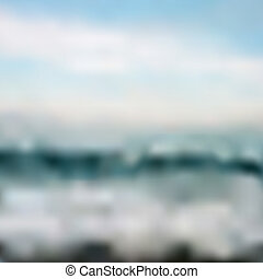 Abstract background - Ocean waves and blue sky Vector...