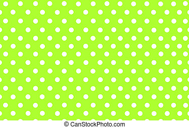 the white polka dot in yellow green background