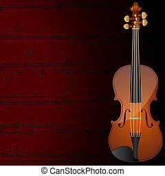 Violin background - Background with a violin and musical...
