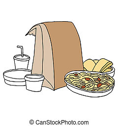 Takeout Italian Food - An image of takeout Italian food