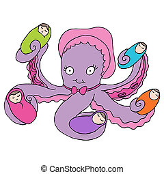 Octopus Nanny - An image of an octopus baby nanny