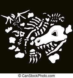 Underground Fossils - An image of underground fossils.