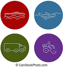 Transportation Travel Icons