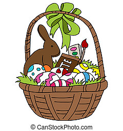 Easter Basket - An image of an Easter basket.