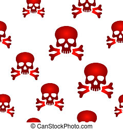 Red skull background - Seamless background design with red...