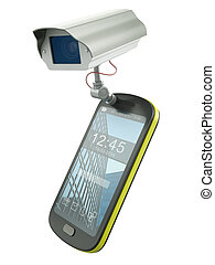 CCTV mobile - Mobile phone with CCTV camera - electronic...
