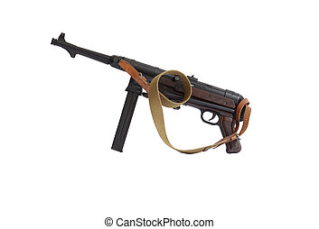 Old Submachine Gun - MP38 German submachine gun World War II...