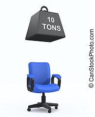 3d Office chair under weight - ?