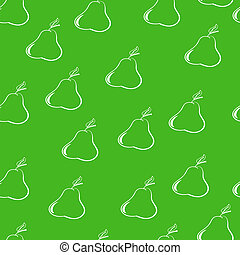pears on a dark green background? - seamless pattern,...