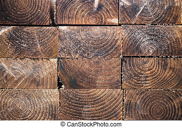 dark wood planks background - Stack of wood planks textures...