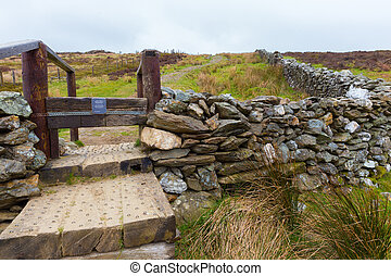 Manmade steps in Wicklow Mountains