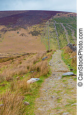 Hiking trail up Maulin Mountain in Wicklow