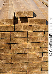 lumbar yard wood planks