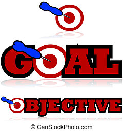 Goal and objective icons