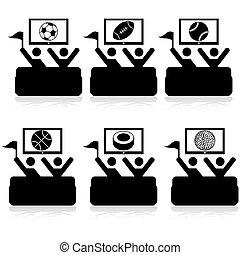 televisión, deportes