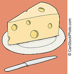 Cheese On Plate