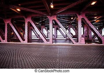 cidade,  Chicago, ponte
