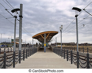 Commuter Train Station - The recently constructed LRT...