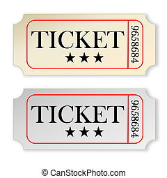 Vintage tickets - Two vintage tickets isolated in white...