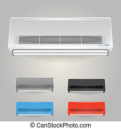 Illustration of conditioners - Colored air conditioners....